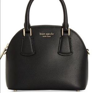 Kate Spade Leather Large Dome Satchel Black/Gold